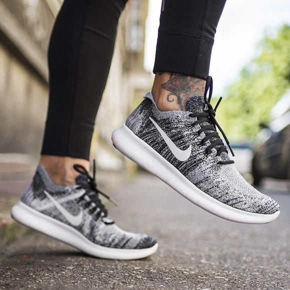 Nike Shoes Oreo Free Rn Flyknit Sneakers Poshmark